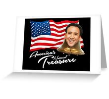 America's National Treasure - White Text Greeting Card