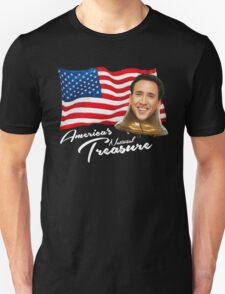 America's National Treasure - White Text T-Shirt