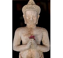 Buddha statue isolated on back background, Thailand Photographic Print
