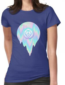 VAPORWAVE HIPPY LOVE SIGN Womens Fitted T-Shirt