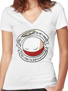 The Heart of Life Women's Fitted V-Neck T-Shirt