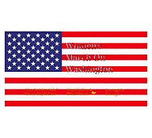 Women's March On Washington Flag/ I'm Not For Sale/ Liquidation Blind Trust/ Enough Is Enough Photographic Print