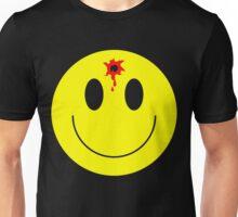 Bullet hole smile face shot - funny t shirt Unisex T-Shirt