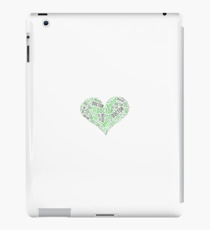 """Doctor Who - """"Doctor"""" Collage in Green iPad Case/Skin"""