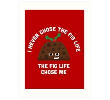 Christmas Character Building - Fig life Art Print
