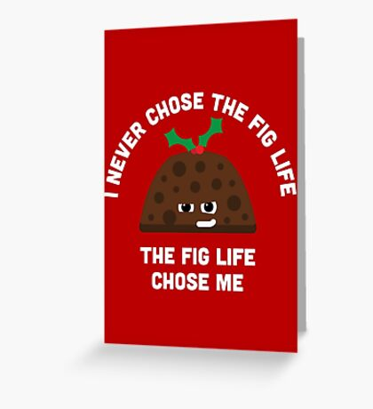 Christmas Character Building - Fig life Greeting Card