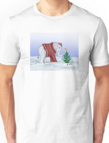 Elephant in a Red Hand-Knitted Sweater Unisex T-Shirt