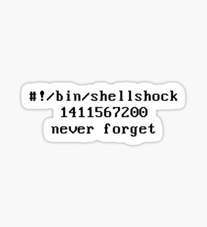 Shellshock Security Bug Tribute Sticker
