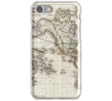 Vintage World Map Showing Telegraph Lines (1871) iPhone Case/Skin