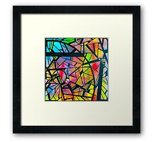 color abstraction two Framed Print
