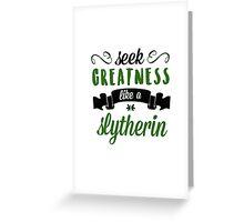 seek greatness Greeting Card