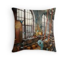 Building Trades - Machinist - Back in the days of yesterday Throw Pillow