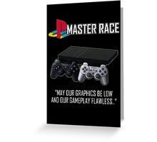Playstation Master Race Greeting Card