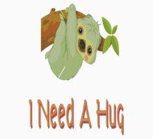 Hugging Sloth One Piece - Short Sleeve