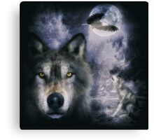 Night Wolves Canvas Print