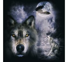 Night Wolves Photographic Print