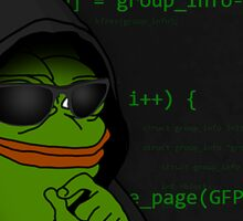 Hacker Pepe Sticker