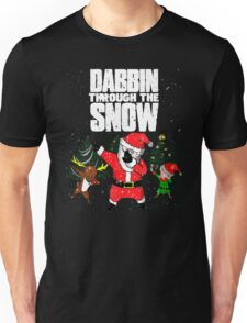 Christmas Dabbin Through The Snow Unisex T-Shirt