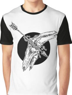 Arrow To The Knee Illustration Graphic T-Shirt