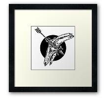 Arrow To The Knee Illustration Framed Print