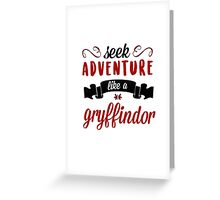 seek adventure Greeting Card