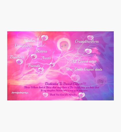 Angel For Breast Cancer- dedicated to Breast Cancer Month Photographic Print