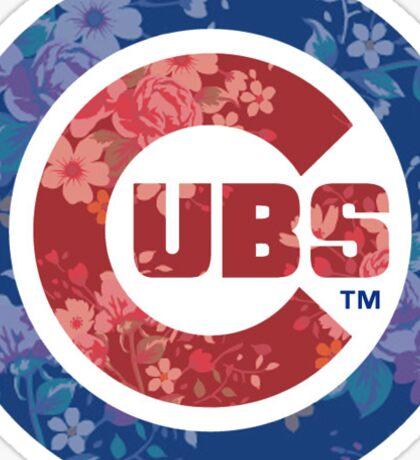 Chicago Cubs Floral Logo Sticker