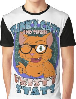 Funky Cats and their Feisty Stats Graphic T-Shirt