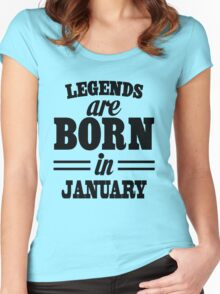 Legends are born in Juanary Women's Fitted Scoop T-Shirt
