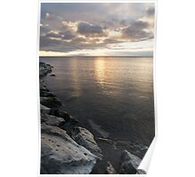 Silvery Serenity - a Peaceful morning on Lake Ontario Poster