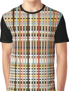 Colorful Plaid Graphic T-Shirt