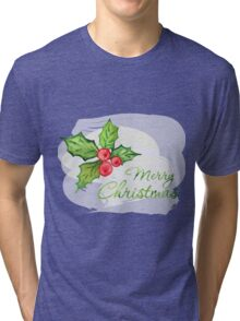 Marry Christmas card Tri-blend T-Shirt