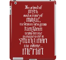 In a Land of Myth... Merlin (white) iPad Case/Skin