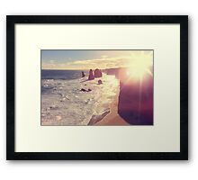 Twelve Apostles with Sun Flare Port Campbell National Park Australia Framed Print