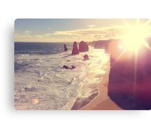 Twelve Apostles with Sun Flare Port Campbell National Park Australia Canvas Print