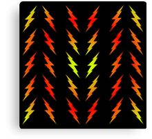 Bolts Gradient - Lime Yellow | Red | Black Canvas Print