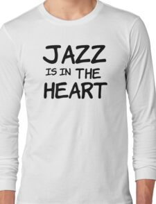 cool jazz is in the heart music t shirts Long Sleeve T-Shirt