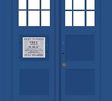 Tardis Greeting Card by thescudders