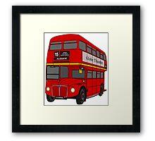 Routemaster Bus Framed Print