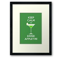 Keep Calm and Drink Appletini Framed Print
