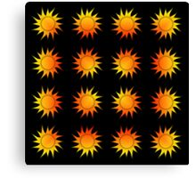 Suns Gradient - Yellow | Red | Black Canvas Print