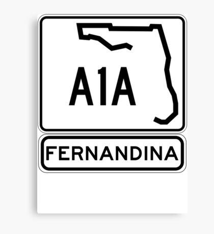 A1A - Fernandina Beach, Florida Canvas Print