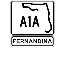 A1A - Fernandina Beach, Florida Photographic Print
