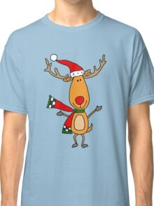Cool Funky Rudolph the Red-nosed Reindeer Art Classic T-Shirt