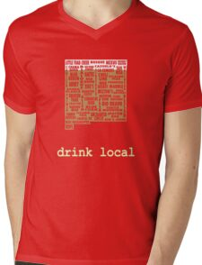 New Mexico Drink Local Beer T-shirt Mens V-Neck T-Shirt