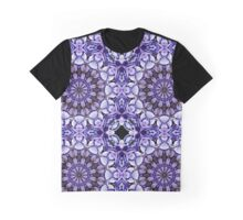 Blue Hydrangea Abstract Flower Petals Graphic T-Shirt