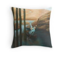 In his Boat Throw Pillow