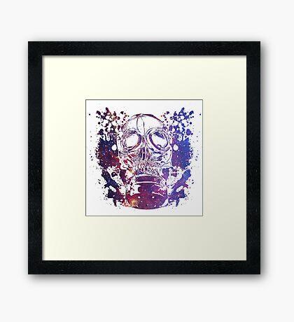 Gas Mask Galaxy Framed Print