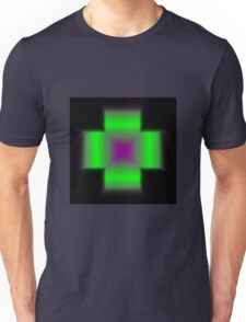 Cross Gradient - Purple | Green | Black Unisex T-Shirt