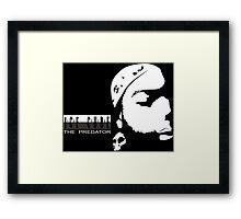 Like Ice Cube Silhouette Framed Print